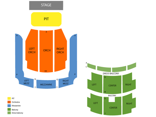 Alabama Theatre Seating Chart