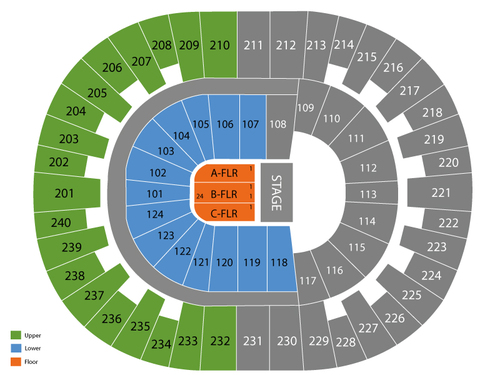 Lawrence Joel Memorial Coliseum Seating Chart