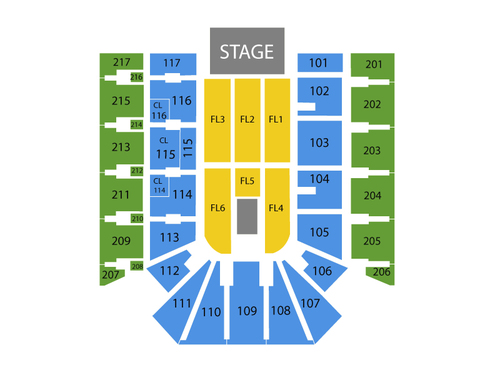 American Bank Center Arena Seating Chart