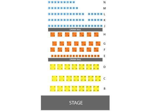The Garner Galleria Theatre Seating Chart