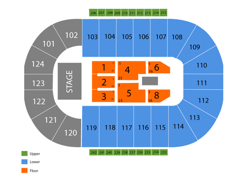 Santander Arena Seating Chart Events In Reading Pa