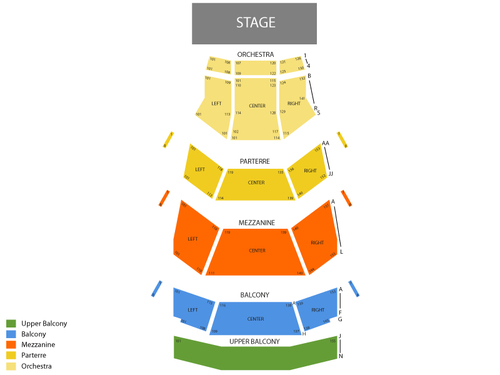 Dell Hall - Long Center for the Performing Arts Seating Chart