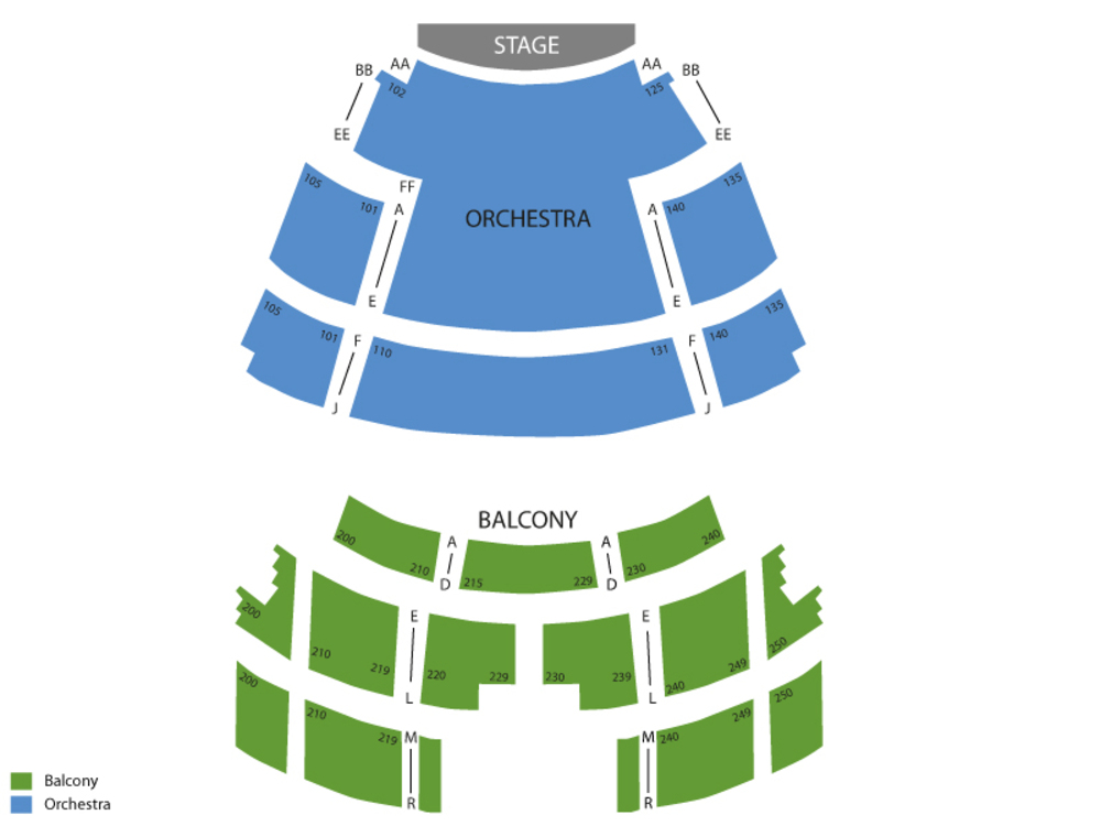 Overture Center seating map and tickets