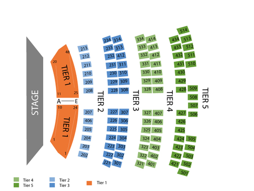 City National Grove of Anaheim Seating Chart