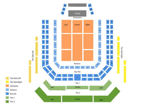 The Music of John Williams Venue Map