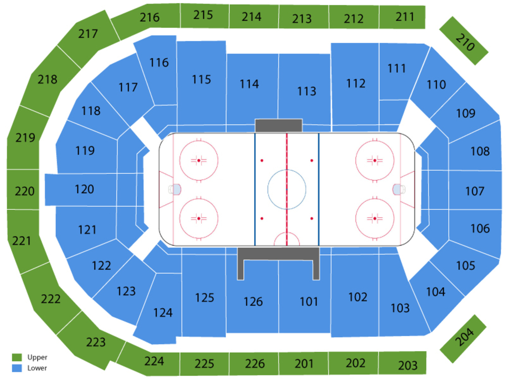 Allen Americans at Utah Grizzlies Venue Map