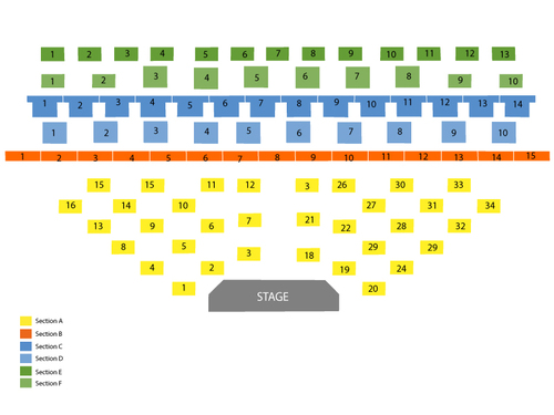 Improv Comedy Club - Harrah's Las Vegas Seating Chart