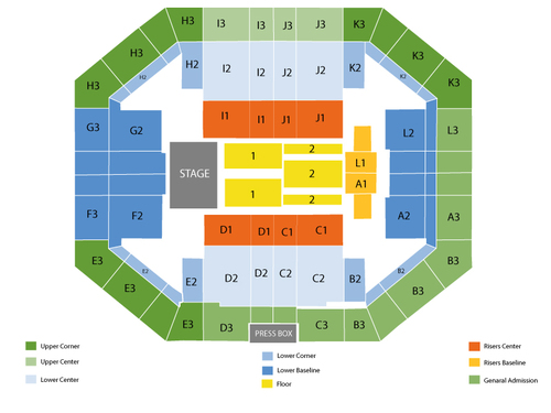 Stephen OConnell Center Seating Chart