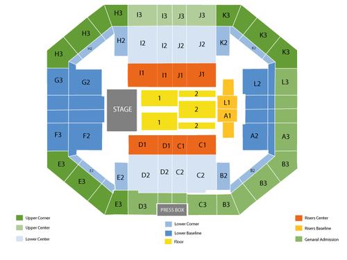 Stephen OConnell Center Seating Chart