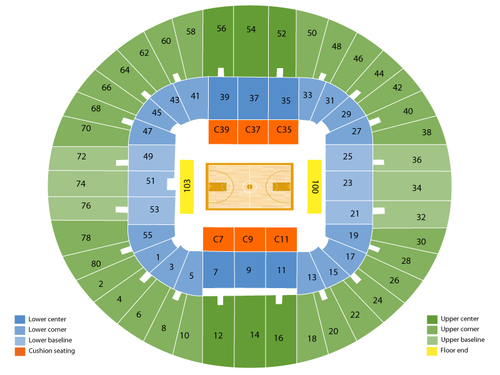 WVU Coliseum Seating Chart