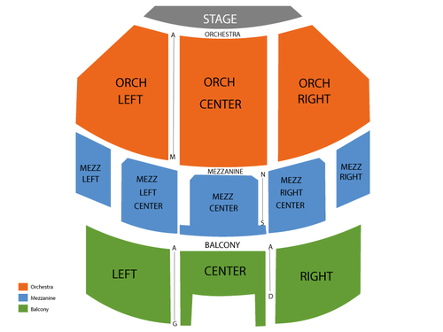 Brooklyn Academy of Music (BAM) Seating Chart