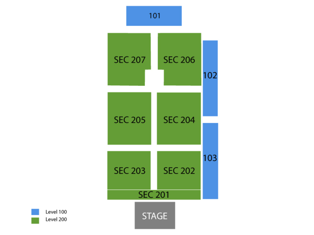 Charlie Daniels and Travis Tritt Venue Map