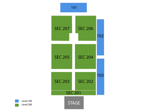Choctaw Grand Theater Seating Chart