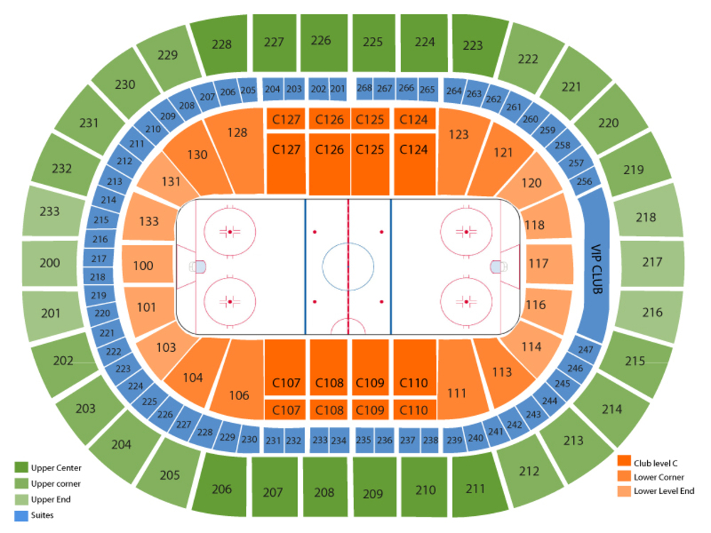 Texas Stars at Cleveland Monsters Venue Map