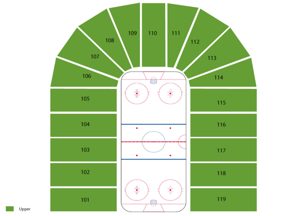 US Hockey Hall of Fame Game Venue Map