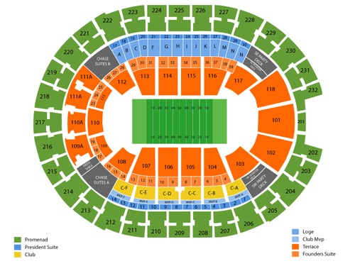 Cleveland Gladiators at Orlando Predators Venue Map