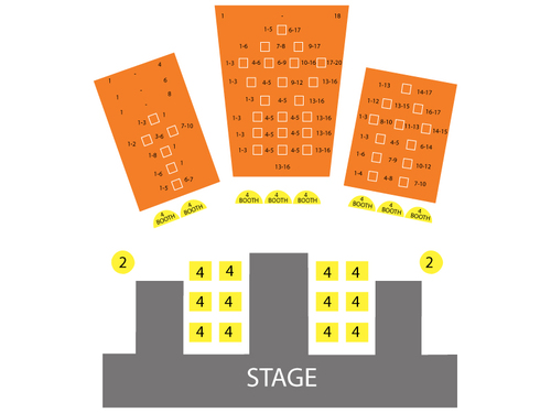 Crazy Girls Theatre - Riviera Hotel & Casino Seating Chart
