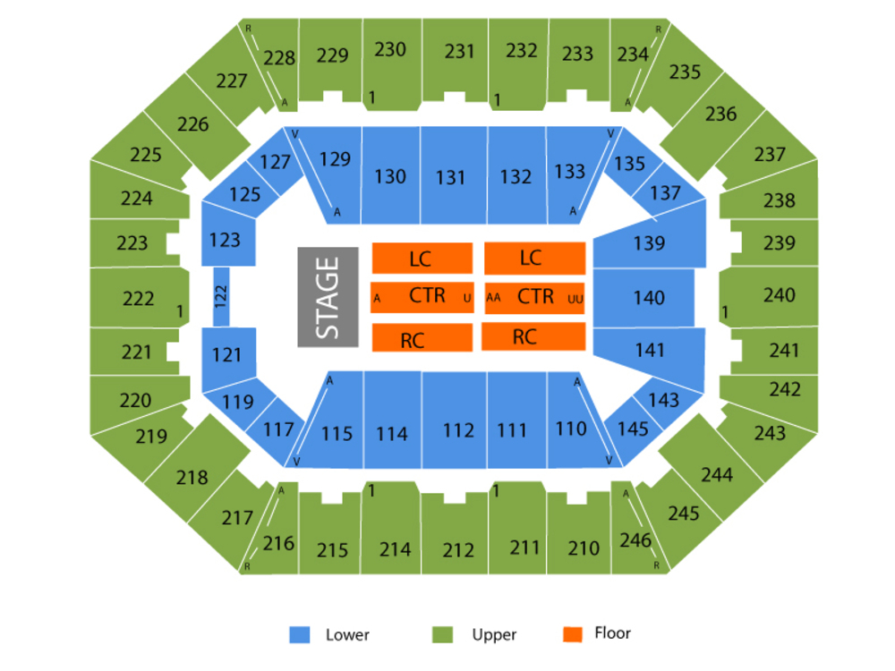 Thomas Rhett Venue Map