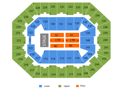 Charleston Civic Center Seating Chart