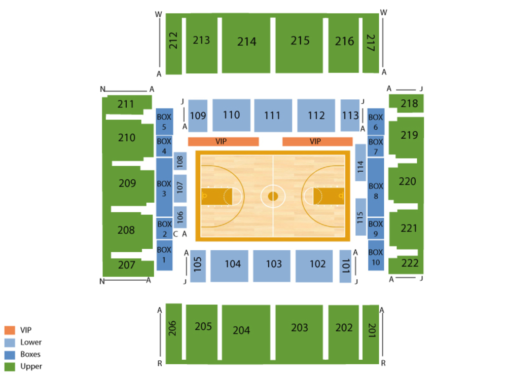 Miami Hurricanes at George Washington Colonials Basketball Venue Map