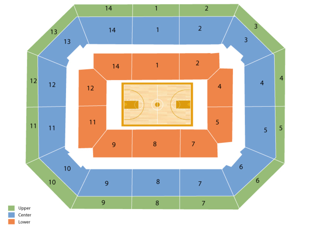 Oregon State Beavers at Washington Huskies Basketball Venue Map