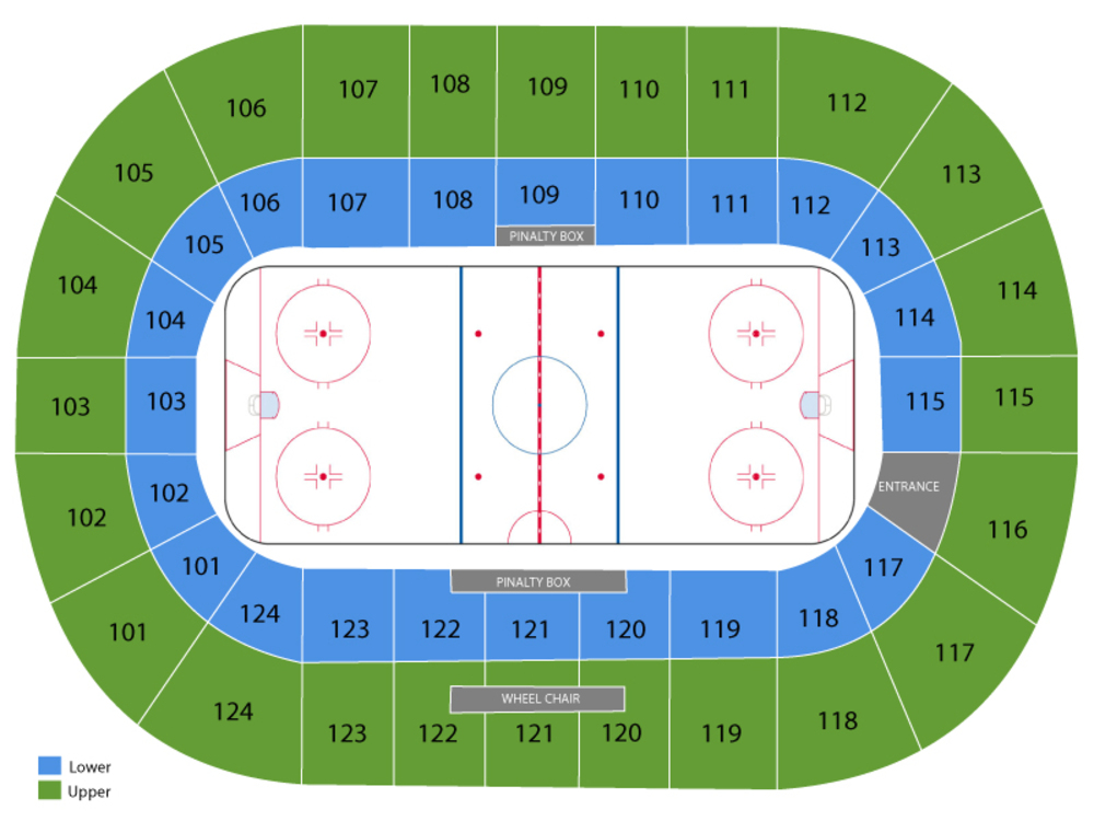 Worcester Railers at Newfoundland Growlers Venue Map