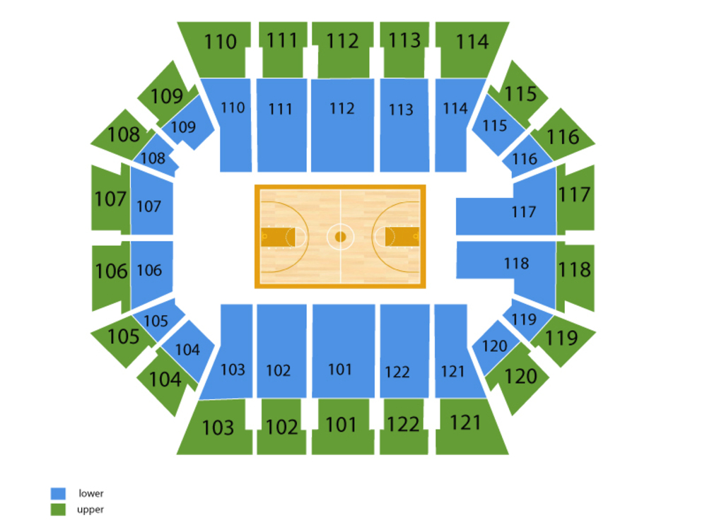Pittsburgh Panthers at Miami Hurricanes Basketball Venue Map
