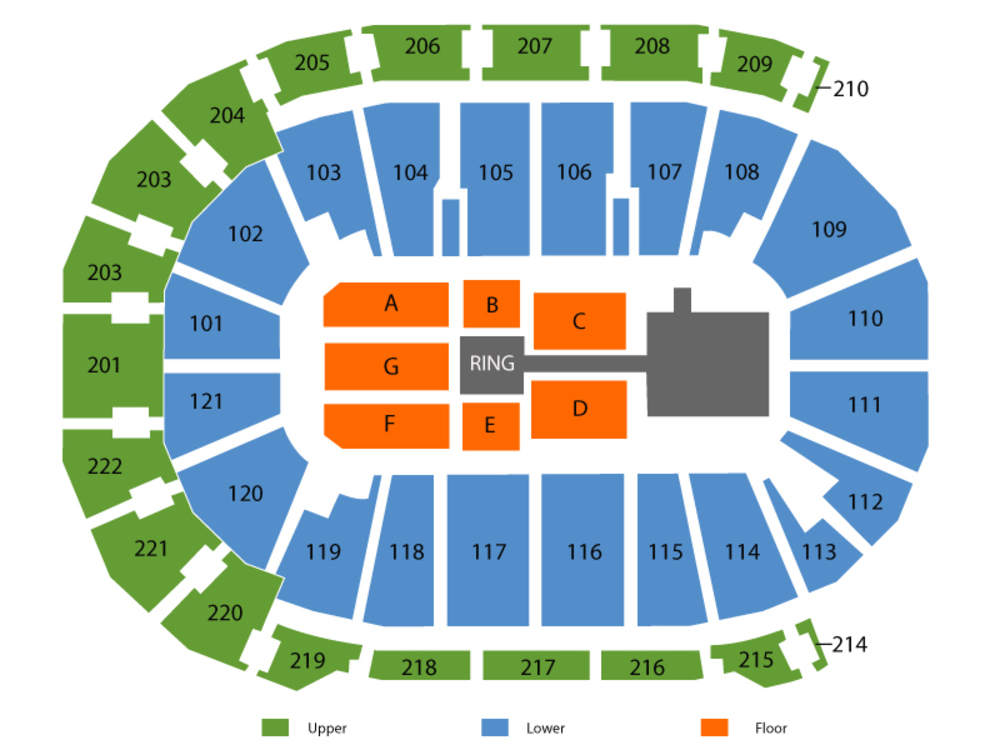 WWE Live Venue Map