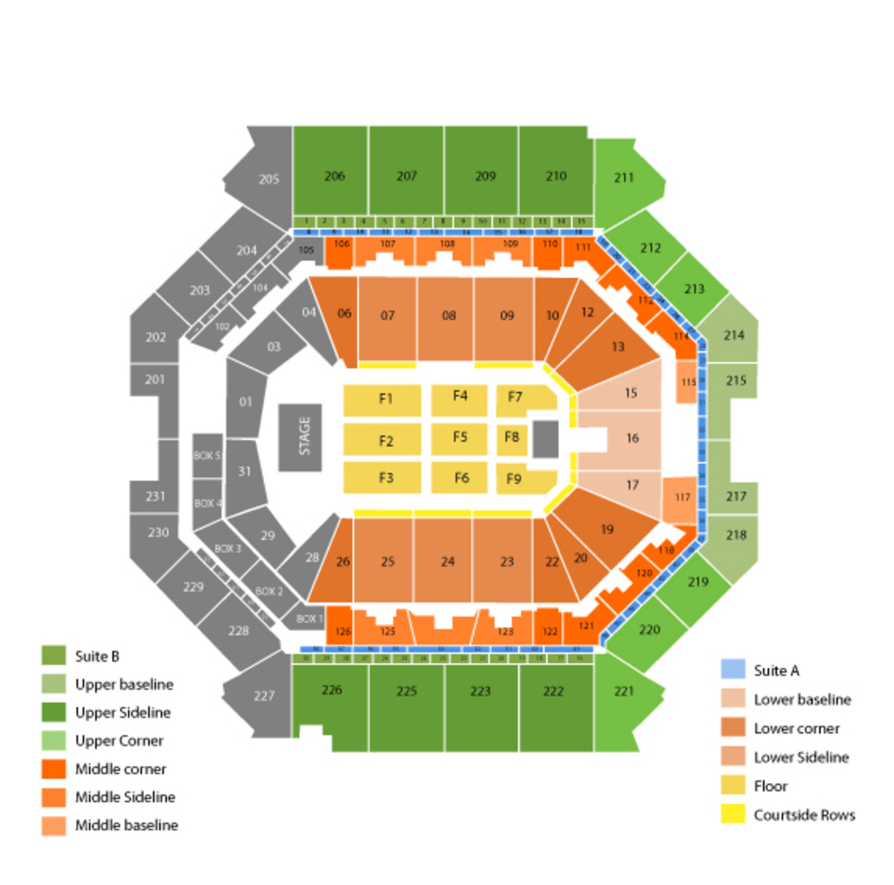 Barclays Center seating map and tickets