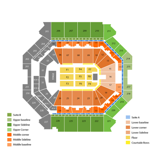 Marc Anthony Venue Map