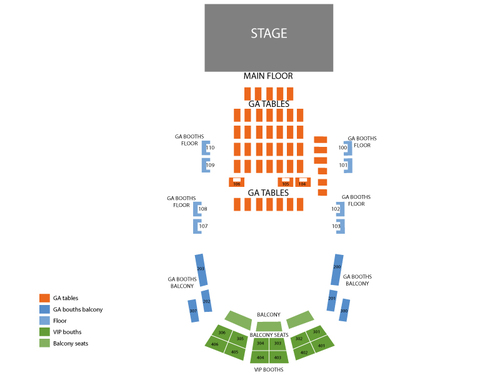Howard Theatre Seating Chart