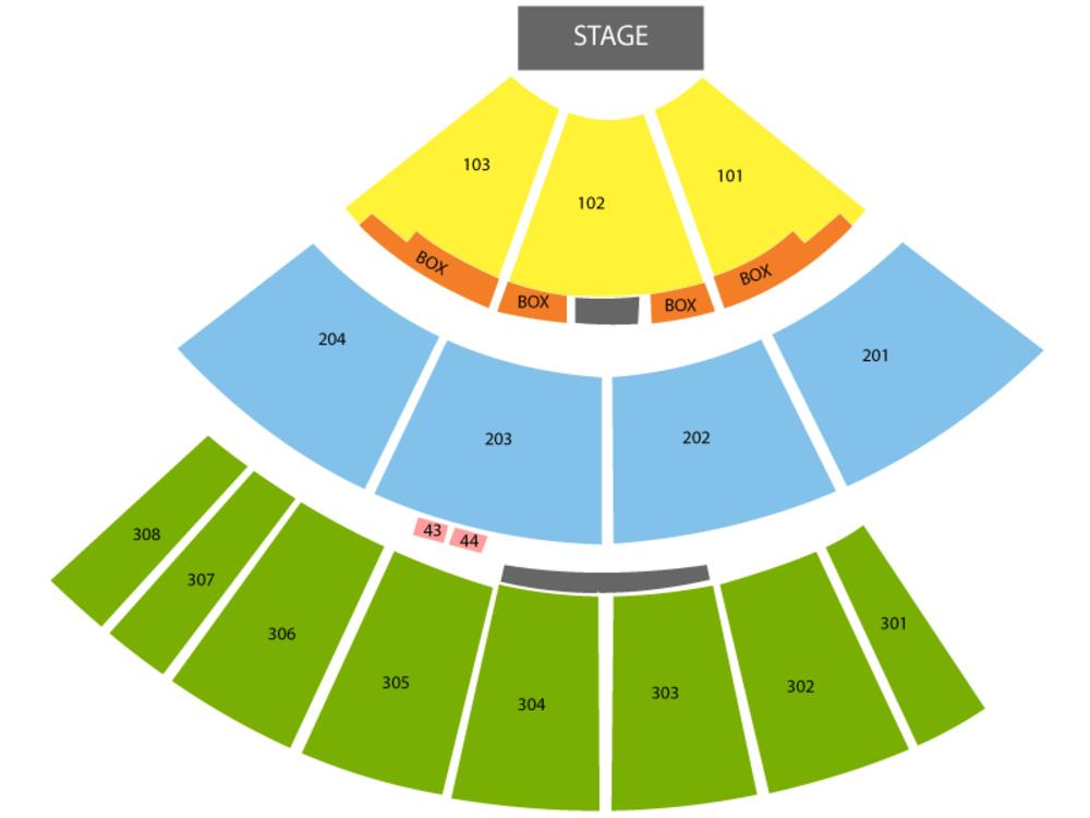 Thomas Rhett (Rescheduled from 07/16/2020) Venue Map