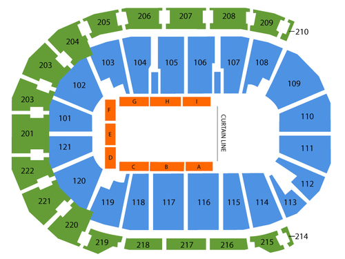 Ford Center - Evansville Seating Chart