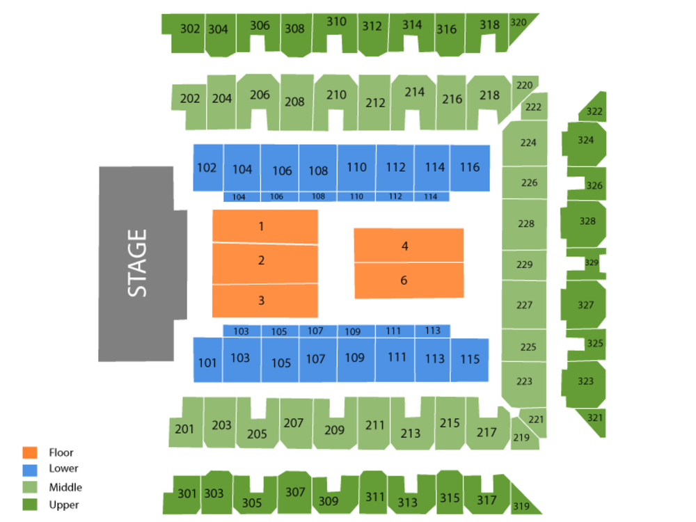 Blake Shelton Venue Map