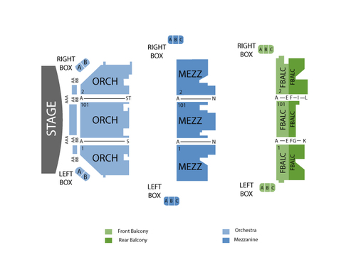 Shubert Theater - New Haven CT Seating Chart