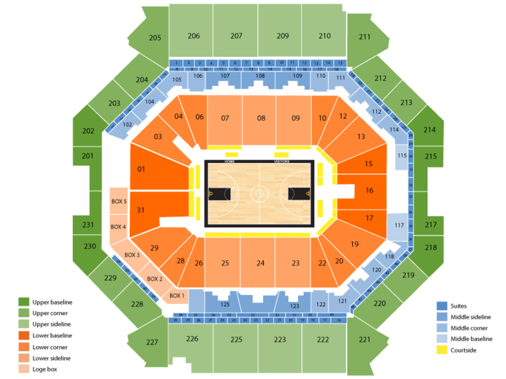 Los Angeles Lakers at Brooklyn Nets Venue Map