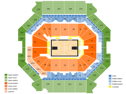 Oklahoma City Thunder at Brooklyn Nets Venue Map