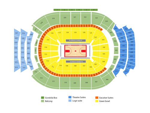 Milwaukee Bucks at Toronto Raptors Venue Map