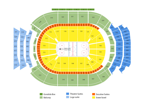 New York Islanders at Toronto Maple Leafs Venue Map