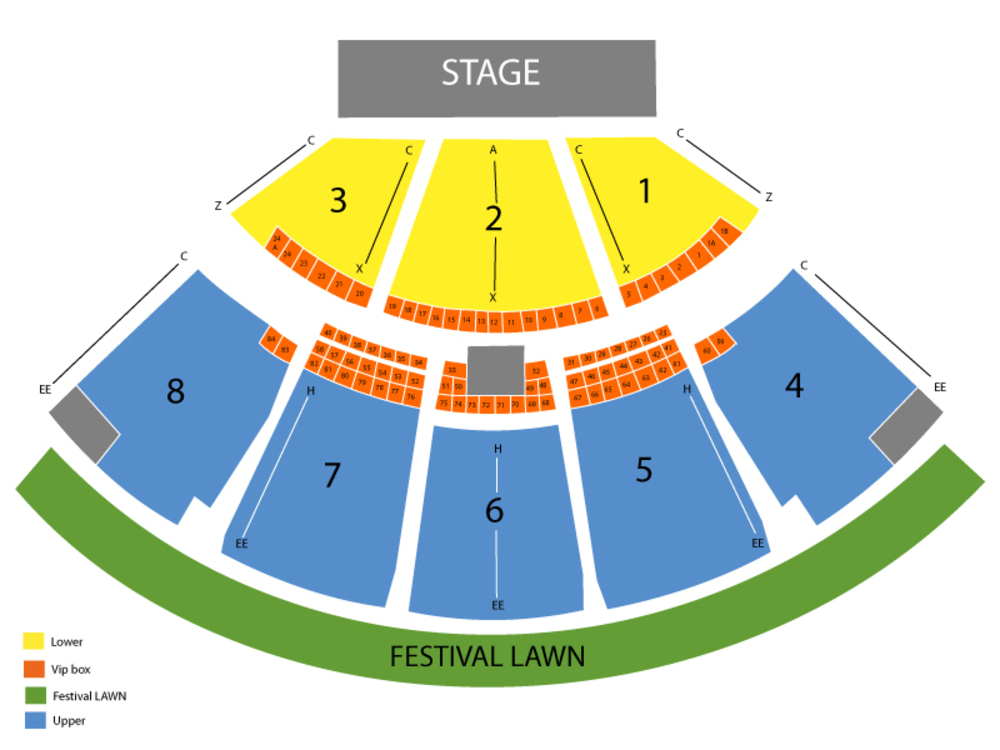Seating Chart for Full House Seating Chart at Cruzan Amphitheatre