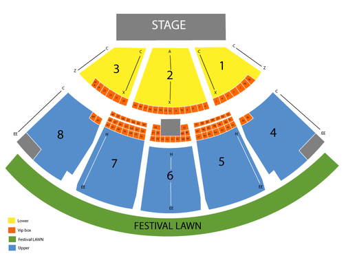 Keith Urban with Little Big Town Venue Map