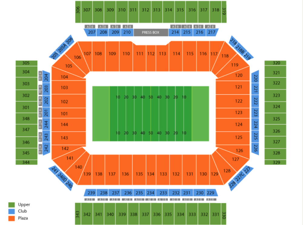 Alamo Bowl (Iowa State vs Washington State) Venue Map