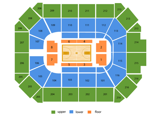 Washington Mystics at Chicago Sky Venue Map