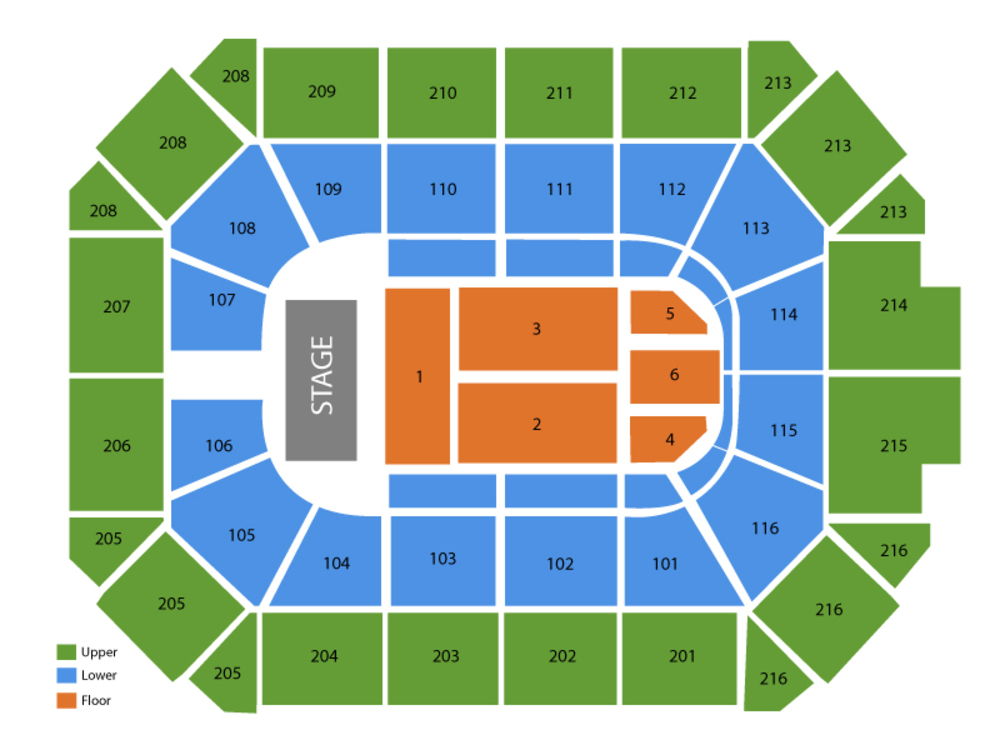 Seating Chart for End Stage Seating Chart at Allstate Arena