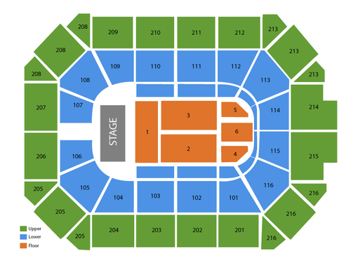 Lauren Daigle (Rescheduled from 06/18/2020) Venue Map
