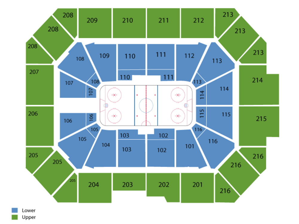 Milwaukee Admirals at Chicago Wolves Venue Map