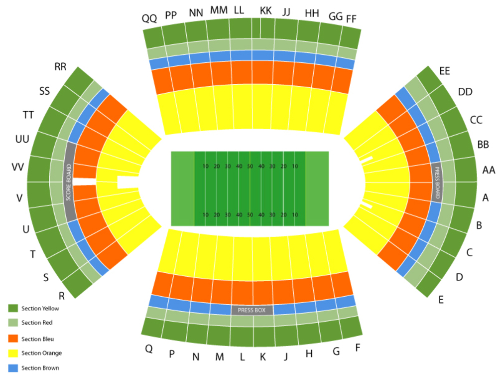 NFL Preseason: Dallas Cowboys at Los Angeles Rams Venue Map