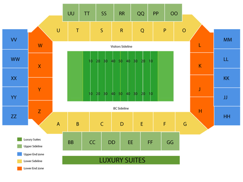 Florida State Seminoles at Boston College Eagles Football Venue Map