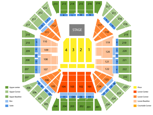 Sleep Train Arena (Formerly Power Balance Pavilion) Seating Chart