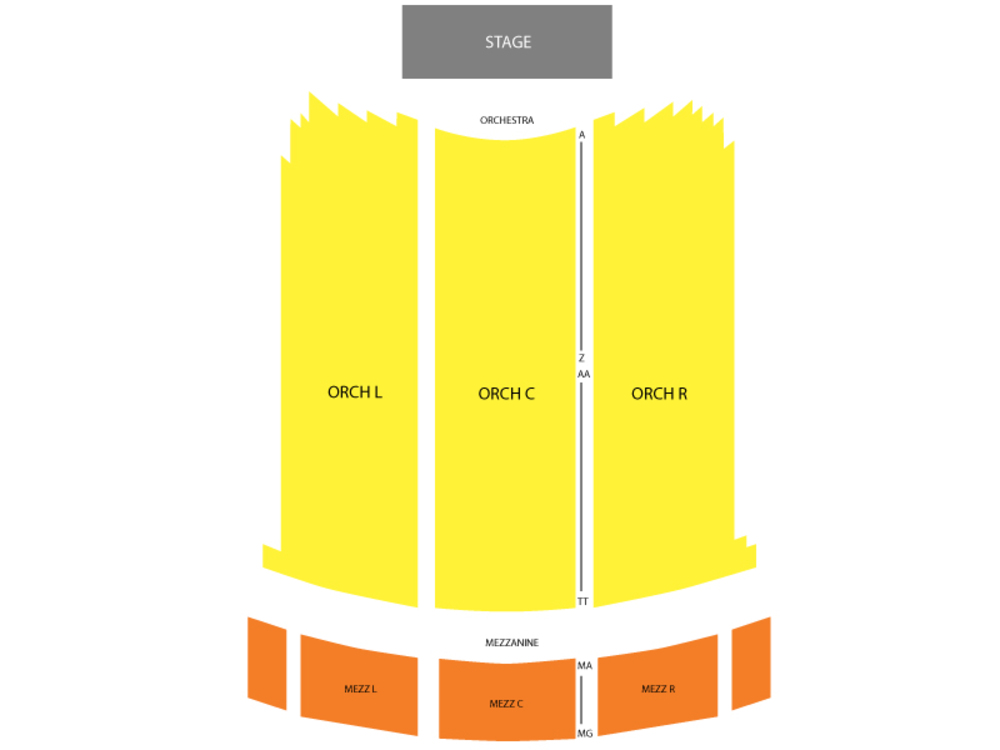 Seating Chart for End Stage Seating Chart at Arlington Theatre